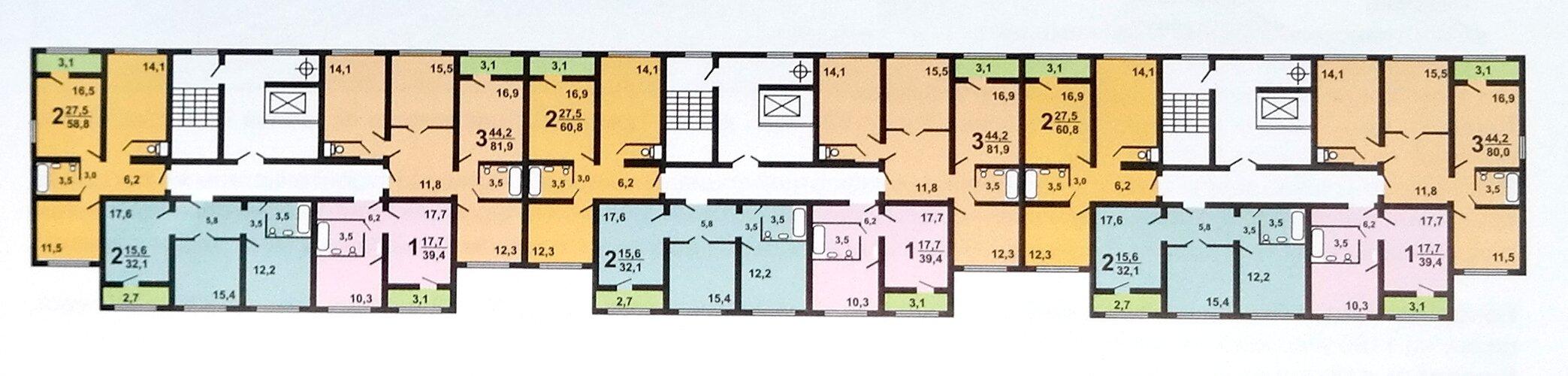 Планировки квартир в доме серии «ДОМНАД»
